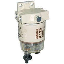 Racor 120 Spin-On Compact Fuel Filter / Water Separator Assembly - Clear  Bowl   Defender Marine   Spin On Fuel Filter Assembly      Defender Marine