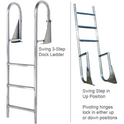 International Dock / Seawall Swing Dock Ladder - 5-Step 4