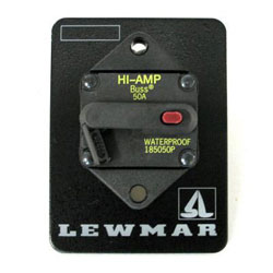 Lewmar Windlass Thermal Circuit Breaker Panel (68000348)