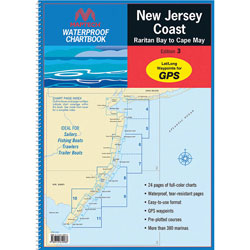 Maptech Waterproof Chartbook - New Jersey Coast: Raritan Bay to Cape May