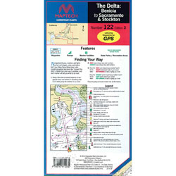 Maptech Folding Waterproof Chart - Delta-Benicia to Sacramento and Stockton