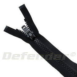 YKK 580 Heavy Duty Separating Zippers - Black / 48""