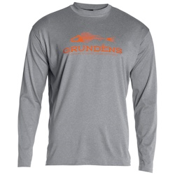 Grundens Deck Hand Long Sleeve Shirt - Small Monument Gray