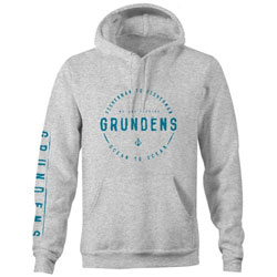 Grundens Ocean to Ocean Pullover Hoodie - Heather X-Large