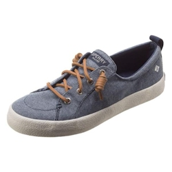 Sperry Women's Crest Vibe Crepe Chambray Sneaker