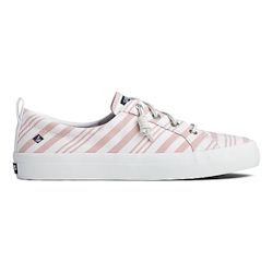 Sperry Women's Crest Vibe Beach Stripe Sneaker - Coral