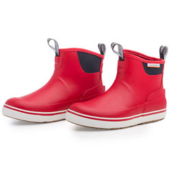 Grundens Women's Deck-Boss Ankle Boot - Opilio Red, Size 9