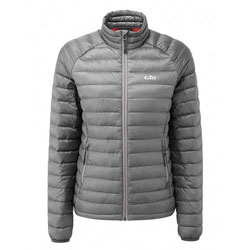 Gill Women's Hydrophobe Down Jacket - Pewter / Red 10
