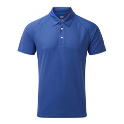 Gill Men's UV TEC Short Sleeve Polo Shirt - Ocean Medium