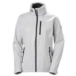 Helly Hansen Women's Crew Hooded Jacket - Gray Fog Medium