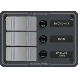 Blue Sea Systems 3-Position Water Resistant DC Power Distribution Panel