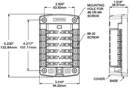 12 volt connector block location for thumb block wiring