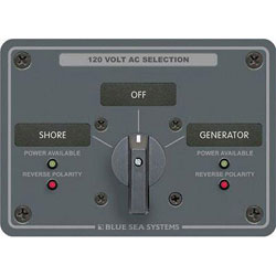 Blue Sea Systems AC Source Selection Rotary Switch Panel