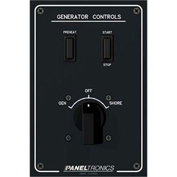 Paneltronics Generator / Shore Power Single Source Selector Panel