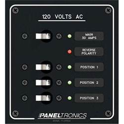 Paneltronics AC Branch Circuit Breaker Panel 3 Position Panel (9972313B)