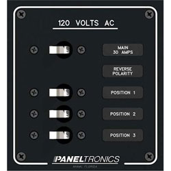 Paneltronics AC Branch Circuit Breaker Panel 3 Position Panel