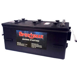 Sportsman Heavy Duty Commercial Lead Acid Starting Marine Battery