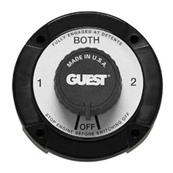 Guest Universal Mount Battery Selector Switch with Alternator Field Disconnect