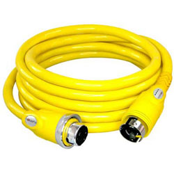 Furrion 50 Amp Heavy Duty Marine Cordset with Powersmart LED - 50 ft. - Yellow