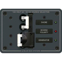Blue Sea Systems AC Source Selection Toggle Circuit Breaker Panel