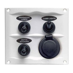 BEP 900 Compact Series 3-Way Spray Proof Switch Panel - Fused