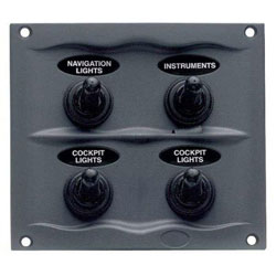 BEP 900 Compact Series 4 Way Spray Proof Switch Panel - Fused