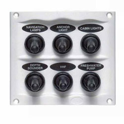 BEP 900 Compact Series 6 Way Spray Proof Switch Panel