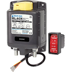 Blue Sea Systems ML-ACR Automatic Charging Relay with Manual Control