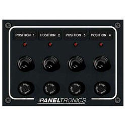 Paneltronics Waterproof Switch Panel - Horizontal Orientation - Fused