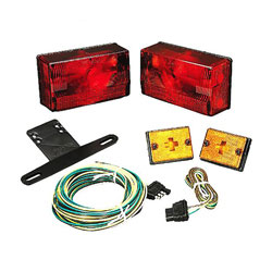 Wesbar Submersible 4x6 Low Profile Tail Light Kit