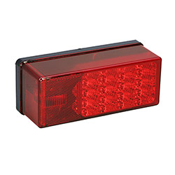 Wesbar Waterproof LED 3x8 Low Profile Tail Light