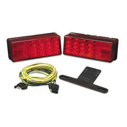 Wesbar Waterproof LED 3x8 Low Profile Tail Light Kit