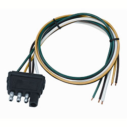Wesbar 4-Way Flat Trailer End Wire Harness - 18\