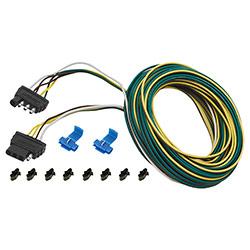 Wesbar 4-Way Flat Vehicle and Trailer Wire Harnesses - 25 foot ... on 4 flat engine, 7 flat wiring harness, 4 flat wiring adapter, toyota sequoia 2001 2007 towing harness, molded connector 6-way trailer harness, 4 flat mounting bracket, 4 flat connector, 4 flat tires, 3 flat wiring harness, 4 point wiring harness,