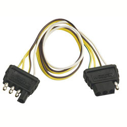 Wesbar 4-Way Flat Vehicle to Trailer Harness Extension (4 Flat to 4 Flat)