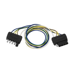Wesbar 5-Way Flat Vehicle to Trailer Extension Harness  (5 Flat to 5 Flat)