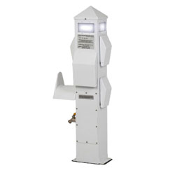 International Dock Slim Line Dockside Electrical Pillar - 1-50A, 1-30A, 1-20A