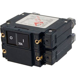 Blue Sea C-Series Flat Rocker Circuit Breaker - 30 Amp