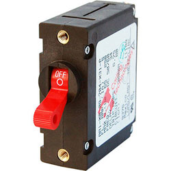 Blue Sea Systems A-Series Toggle Circuit Breaker - Single Pole - Red