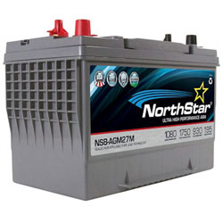 NorthStar Ultra High Performance Marine AGM Battery - Group 27 - Dual Purpose