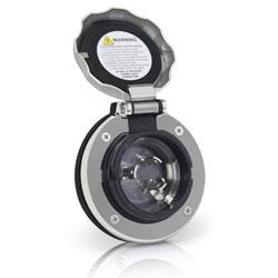Furrion F30ITS-SS 30 Amp Shore Power Stainless Steel Inlet - Round