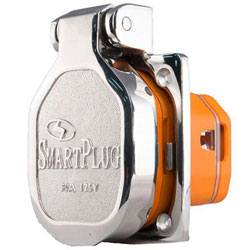 SmartPlug 30 Amp 125V Shore Power Inlet with Cover - Stainless