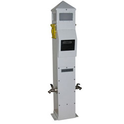 International Dock Slimline Power Pedestal Dockside Electrical Pillar