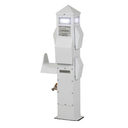 International Dock Slimline Power Pedestal Dockside Electrical Pillar - 2-30A