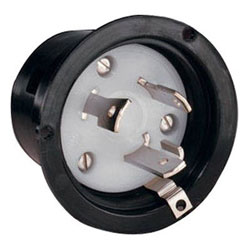 Marinco 30 Amp 125 Volt Shore Power Replacement Interior Inlet Plug