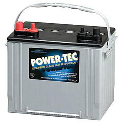 Power-Tec Deep Cycle Marine Battery - 12V AGM - Group 24