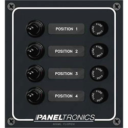 Paneltronics Waterproof Switch Panel- Vertical Orientation - Fused