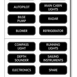 Blue Sea Systems Large Format Labels - DC Electrical Panel