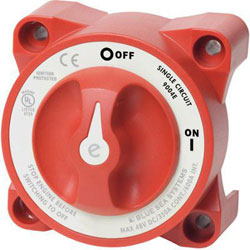 Blue Sea Systems e-Series On-Off Battery Switch with AFD