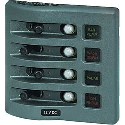 Blue Sea Systems Weather Deck Waterproof Circuit Breaker Panel